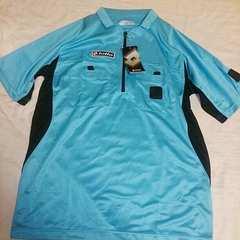 Lotto*水色半袖レフリーシャツMサイズ*新品未使用