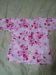 ☆新柄ピンク×大桜柄子供用ダボシャツ100