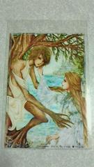 自作ポストカード オリジナル forest 木の精霊とお姫様 1枚