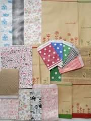R100サイズ〜R10サイズ平袋100枚パック柄いろいろ紙袋☆