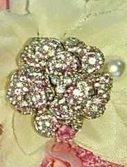 サファイア×ダイヤモンドの薔薇ペンダントトップ♪