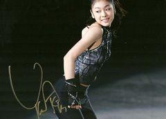 ☆キム・ヨナ◆サイン入り写真◆18x13�p☆