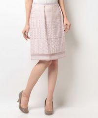 新品タグ付ミッシュマッシュ9612円ジャガードタイトスカートピンク