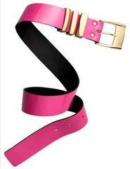 H&M×ベルサーチコラボ◆ピンクのベルト◆シルバー金具