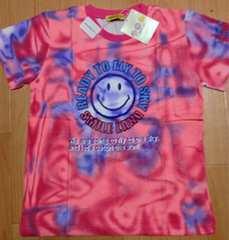 新品☆120cmスマイルニコちゃん半袖Tシャツ☆ピンクパープル