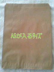 発送にもR50サイズ無地平袋A5が入るサイズ紙袋40枚