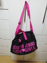 ジェニィ希少ボストンバック新品ブラック×ピンク