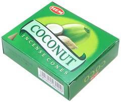 HEM ココナッツ コーン 6size[お香・インド香]