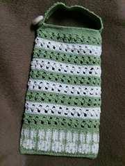 手編みのスマホケース、ウサギ