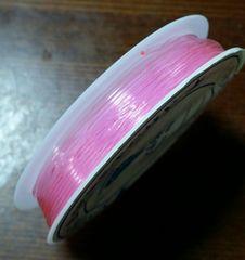 オペロンゴム  ピンク  太さ約0.8mm  天然石ブレス制作に