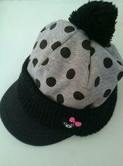 ミキハウス◇DOUBLE‐B◇女の子新品キャップ帽子