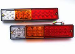 12V/24V兼用LED20連テールランプ汎用角型左右 2個 セット