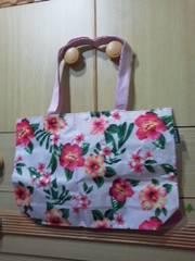 EMODA/エモダ花柄ビッグトートバッグ 肩から掛ける/送料180円