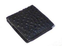 SANTA BARBARA 本革 オースト型押し 2つ折財布BK