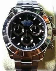 ロレックス デイトナ クロノグラフ 黒 腕時計 ノベルティ 美品