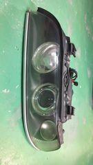 5シリーズE39後期純正HIDイカリングヘッドライト左カプラーオンポン付即決送料無料