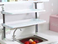 キッチン収納/食器棚(高低調節可能)