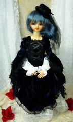 【SD】ベルベット2WAYドレス(紺)