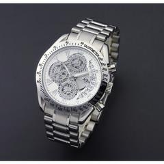 新品サルバトーレマーラホワイトスケルトンクロノグラフ時計