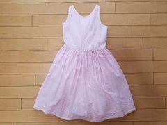 美品☆ラルフローレン☆ドレス ワンピース ストライプ ピンク 120 6歳