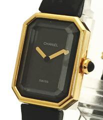 正規シャネル時計プルミエールK18レディース780YG革ベルトウォッチCHANEL腕時計