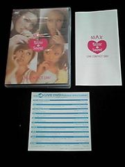 MAX LIVE 2001 Bitter 4 Sweet DVD ライブ 廃盤 希少 即決