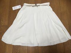 新品&即決.LODISPOTTO.シンプルで上品ベルト付スカート/8,532円