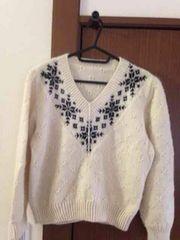 Vネック 長袖セーター サイズ130?