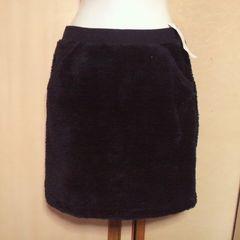 UNIQLO/ユニクロブラック モコモコ スカート