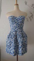F ドレスワンピース Jewels バンテージ ブルー花柄 新品 J16466