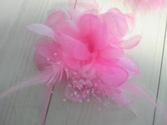 新品未使用ピンクの☆コサージュ☆