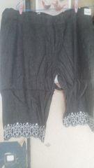 タグ付き〓未使用刺繍〓綿デニム〓サスペンダー付き