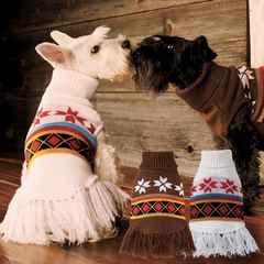 期間限定値下★かわいい犬服◆流行の民族風ニットポンチョ