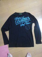 新品バナナセブンビーチサウンド長袖Tシャツ黒ロンTブラックラメラメボディグローブ・送0
