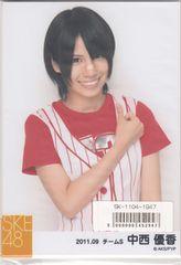 SKE48 ベースボール写真セット 中西優香