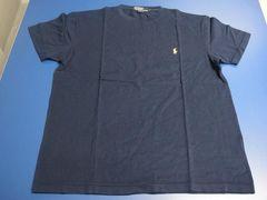 Polo by RalphLauren/ポロ ラルフローレン★ポロシャツ生地Tシャツ 紺色 サイズL