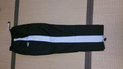 新品プーマナイロンパンツ黒×白   L  裏メッシュ送料込み