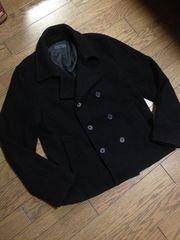 美品HARE メルトンPコート ブラック ハレ