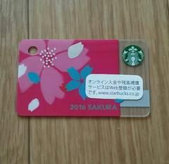 ☆スタバ スターバックス カード ミニ さくら 2016☆