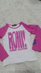 ロニィ RONI ロンT 白×ピンク  S
