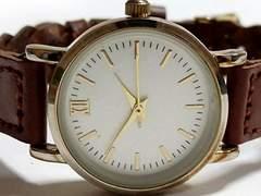美品 1スタ★H&M ヴィンテージ風 レトロな腕時計 編みこみブレス
