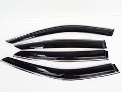 日産 スカイライン V37 セダン クロームメッキライン入り ドアバイザー SKYLINE