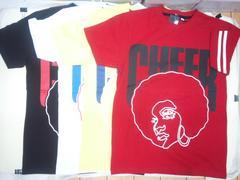 値下げ処分CHEERチアーBIGアフロ&BIGロゴの半袖Tシャツ