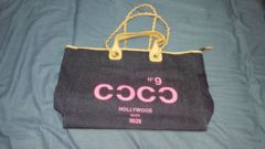 hollywood  made(ハリウッドメイド)定価1万デニム地大きめトートバッグ
