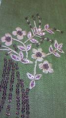 グレースコンチネンタルGRACE CONTINENTAL花柄ビーズ刺繍デザインパンツ