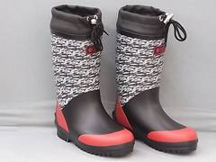 ワンタッチスパイク付 防寒長靴 367SP 23.0cm ブラック