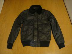 美品 H&M 日本未発売 ライダース ジャケット ブラック 革調 S