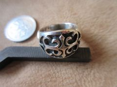 Silver925 Ring 純銀・指輪  15号 8.4g    n301