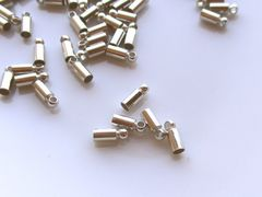 カツラ/コードエンド20個D(内径2�o)ロジウム