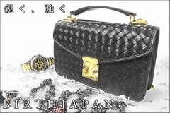 送料無料ヤクザオラオラ系悪羅悪羅系ヤンキー格子柄セカンドバッグ/セカバン鞄64黒